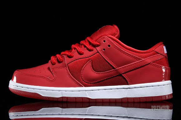 Nike SB Dunk Low  Red Patent Leather   1dc433125