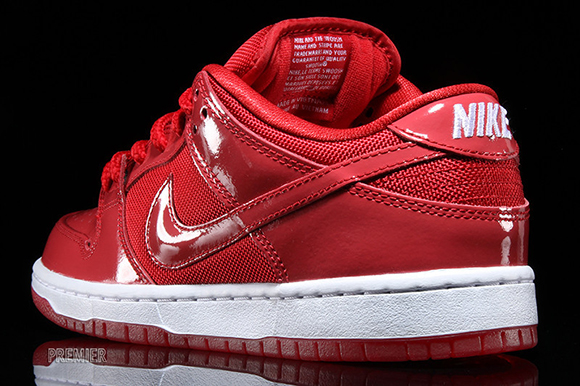 Nike SB Dunk Low Red Patent Leather