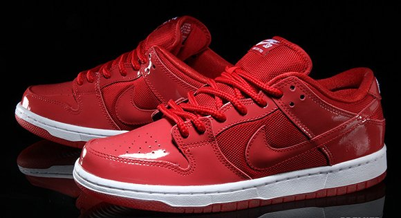 best website f5a43 178c9 Nike SB Dunk Low 'Red Patent Leather' | SneakerFiles