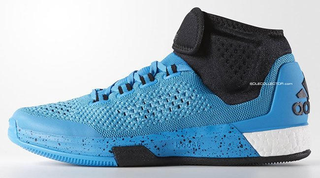 premium selection eb370 041ce adidas Crazylight Boost 2015 Mid Blue Black