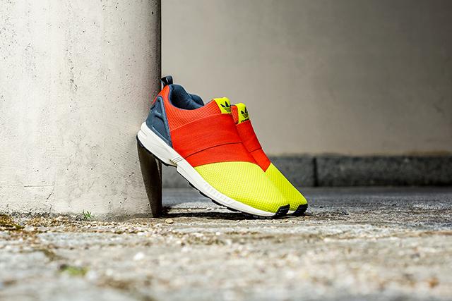 adidas ZX Flux Slip-On Solar Yellow Red