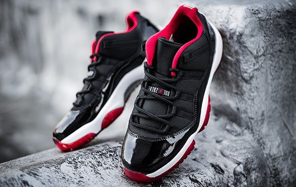 39e09bade79 Air Jordan 11 Low 'Bred' - Detailed Look | SneakerFiles