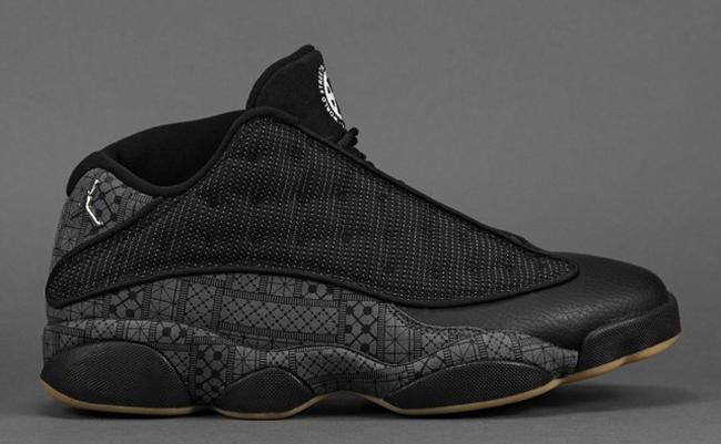 2015 Air Jordan 13 Low Quai 54 Black Shoes