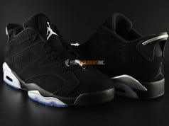 Air Jordan 6 Low Black Chrome Detailed Look