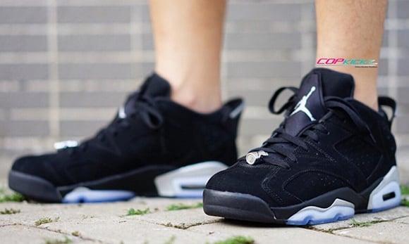 Air Jordan 6 Low  Black Chrome  - On Foot  18deb62f0