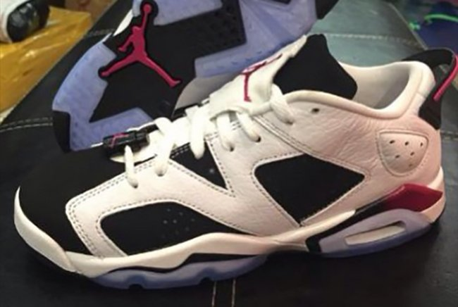 official photos 55d3d b5f4c Air Jordan 6 Low GS White Black Sport Fuchsia