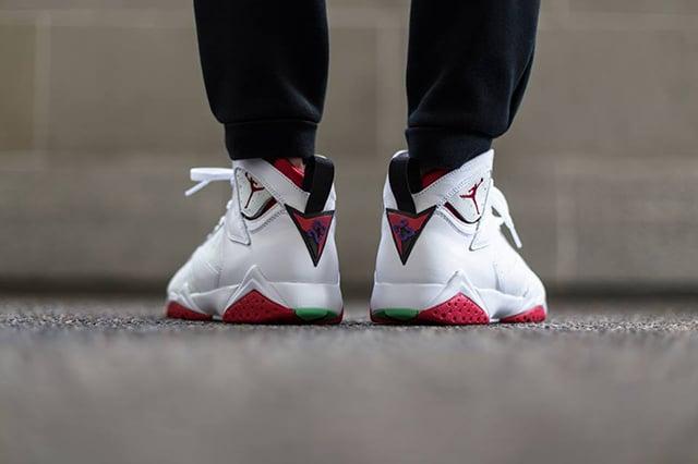 Air Jordan 7 Hare On Foot