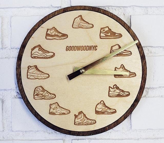 Basketball Shoes Wall Clock