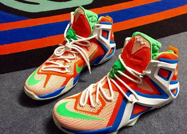 Candice Wiggins New York Liberty Nike LeBron 12 Elite PE