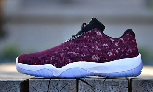 7a9f3afb3a6e Jordan Future Low  Burgundy Camo  - Detailed Look