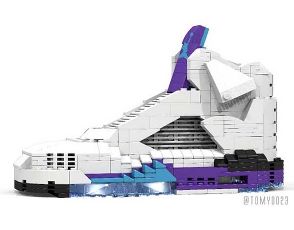 LEGO Air Jordan 5 Grape