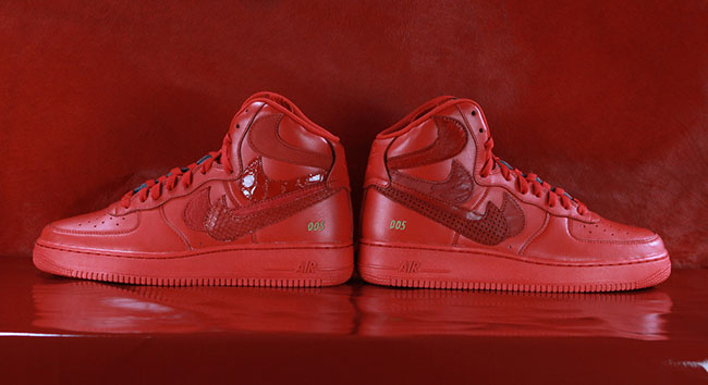 Nike Air Force 1 High Misplaced Checks Red
