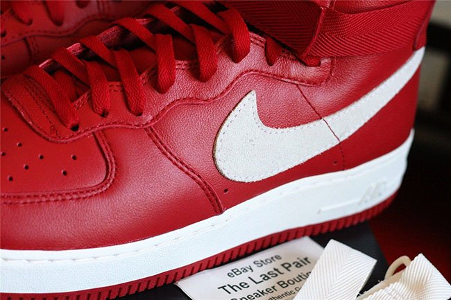 Nike Air Force 1 High Naike Gym Red Detailed