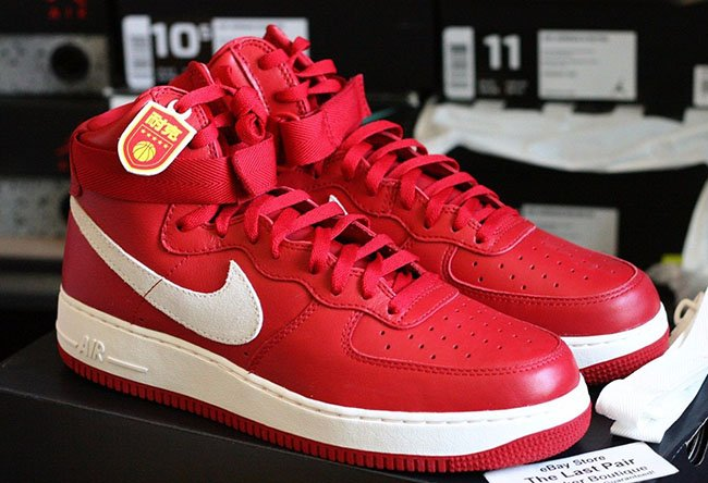 Nike Air Force 1 High Naike 'Gym Red' Detailed Look