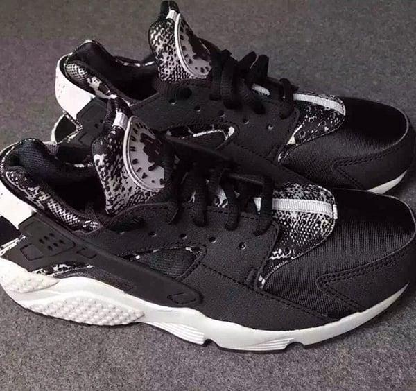 best sneakers 01d2c 6c138 Nike Air Huarache Snakeskin Black White
