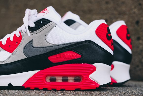 huge selection of 6817f 3c57c Nike Air Max 90 OG Infrared Detailed Look durable modeling