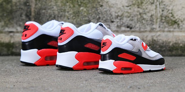 nike air max orange et gris - Nike Air Max 90 OG 'Infrared' Releasing for the Family | SneakerFiles