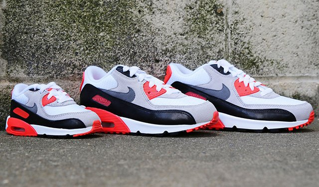 new concept c1158 d81a6 high-quality Nike Air Max 90 OG Infrared Releasing for the Family ...