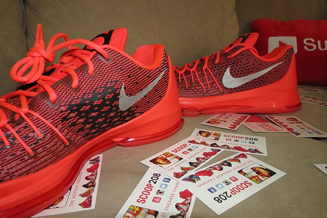 Nike KD 8 Bright Crimson Detailed Look