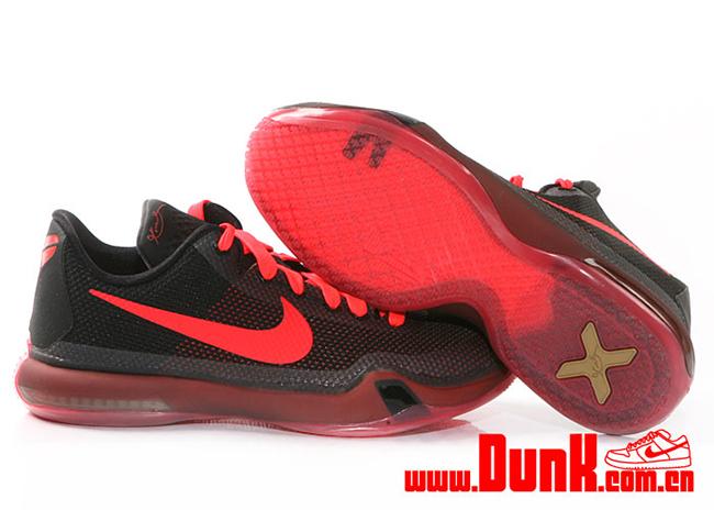Nike Kobe 10 Black Bright Crimson Release Date