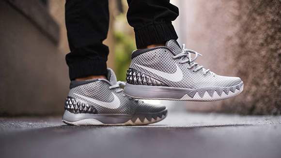 Nike Kyrie 1  Wolf Grey  - On Foot  d4b482f49