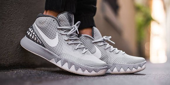 the latest 3827d cb79d Nike Kyrie 1 Wolf Grey On Foot