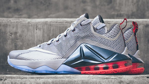 low priced 78e21 afd66 Nike LeBron 12 Low Hot Lava Detailed