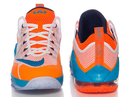Nike LeBron 12 Low GS Orange Blue White