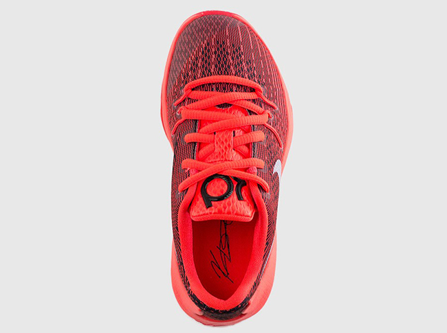 Pre School Nike KD 8 Bright Crimson