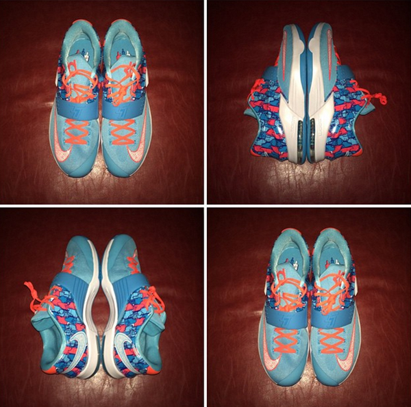 Randy Williams Adult Size Nike KD 7 GS Frozens
