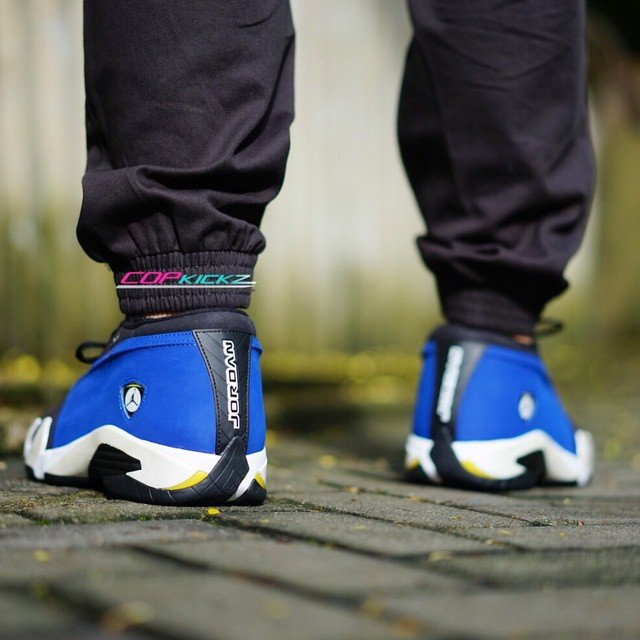 Air Jordan 14 Low Laney Retro On Feet