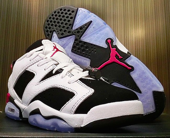 0635275d5fdc Air Jordan 6 Low GS White Black Fuchsia