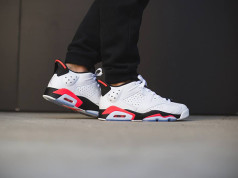 Air Jordan 6 Low Infrared On Feet