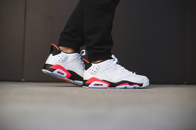 Air Jordan 6 Low Infrared On Feet