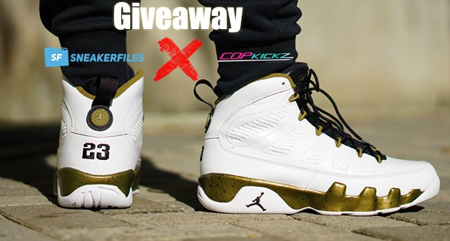 CopKickz SneakerFiles Air Jordan 9 Copper Statue Giveaway