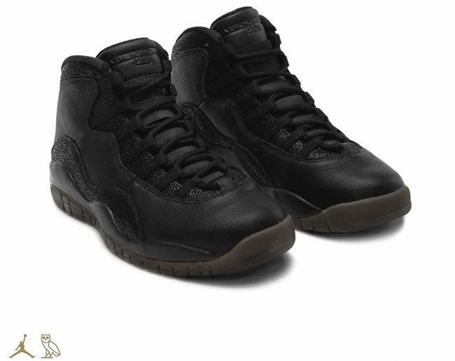 Drake Air Jordan 10 OVO Black Stingray