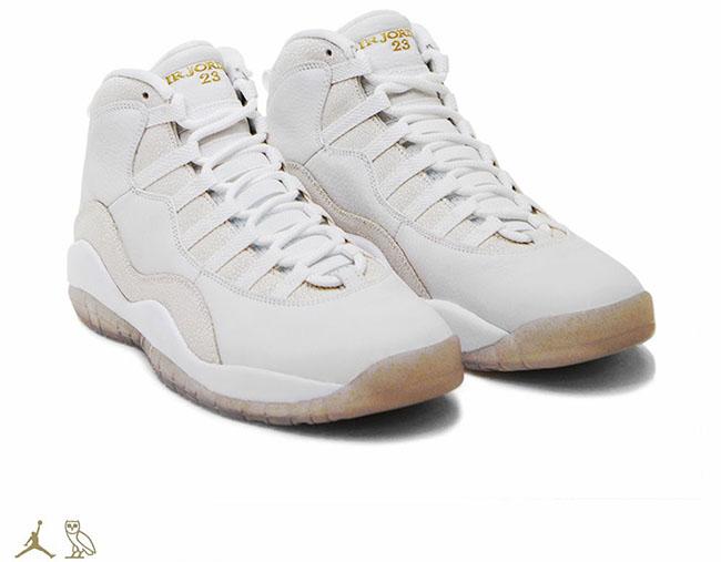 Drake Air Jordan 10 OVO White Stingray