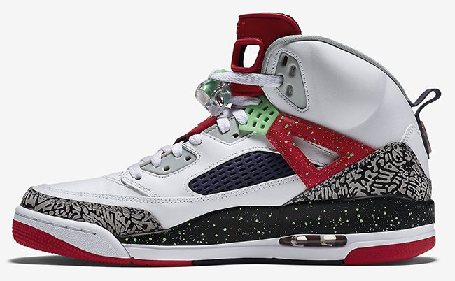 Jordan Spizike White Poison Green