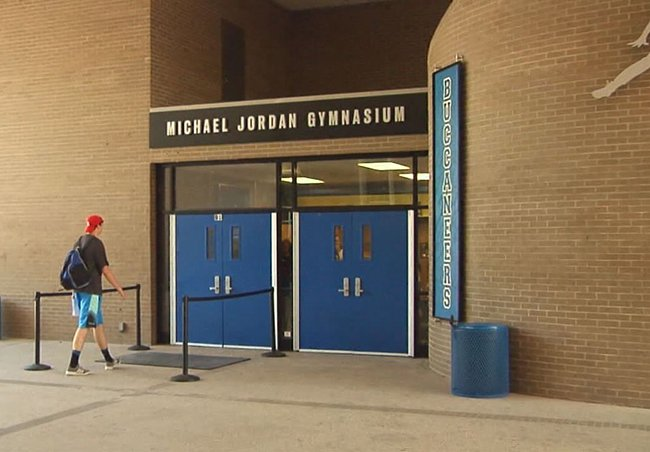 Michael Jordan Laney High School Gym