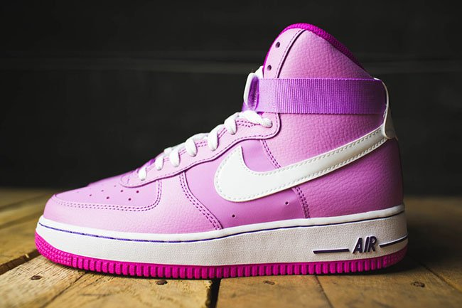 nike air force 1 high gs pink white sneakerfiles. Black Bedroom Furniture Sets. Home Design Ideas