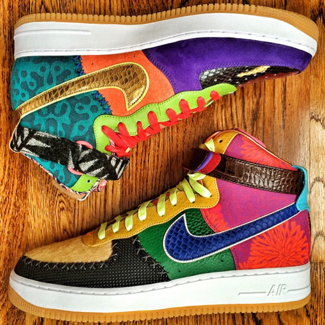 factory authentic 2b347 3a317 Nike Air Force 1 High What The Bespoke DJ Clark Kent