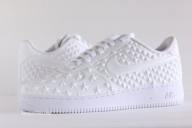 white air force 1 with stars