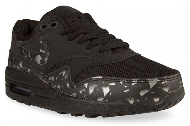 3be18eaa6bd5c Nike Air Max 1 Print Womens Black Silver