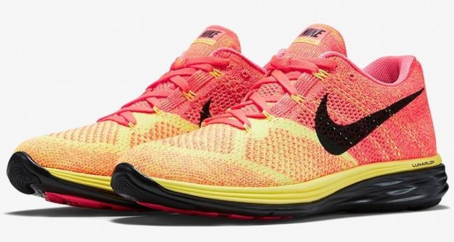 Nike Flyknit Lunar 3 Hot Lava Volt Laser Orange