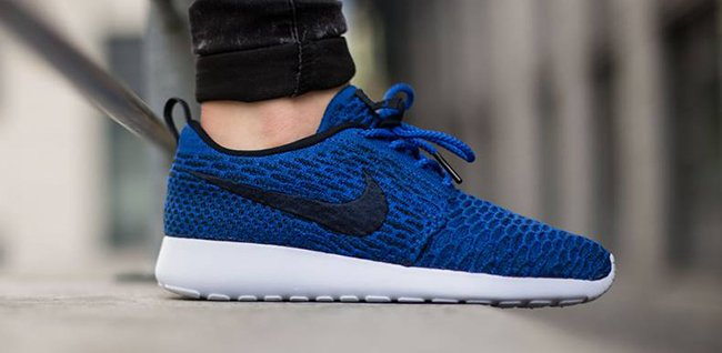 Nike Flyknit Roshe Run Game Royal Obsidian
