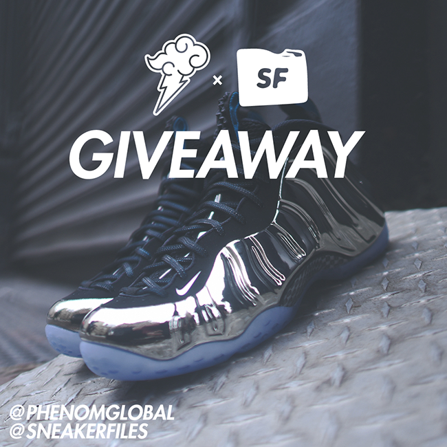GIVEAWAY Phenom SneakerFiles Nike Foamposite One Chromeposites