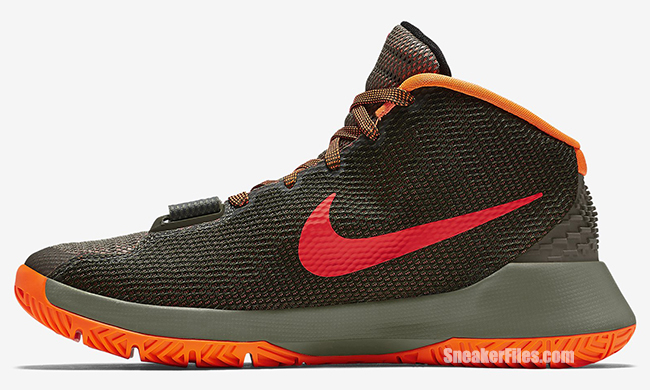 db64d187727 Nike KD Trey 5 III Medium Olive Bright Crimson
