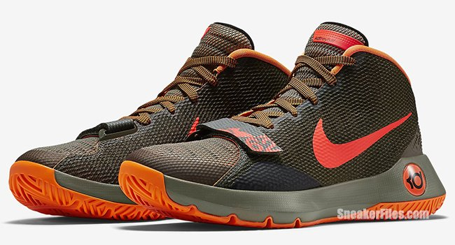 official photos 076a6 a018b Nike KD Trey 5 III Medium Olive Bright Crimson