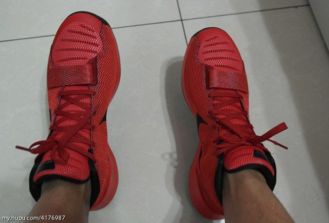 Nike KD Trey 5 III Red Black On Feet