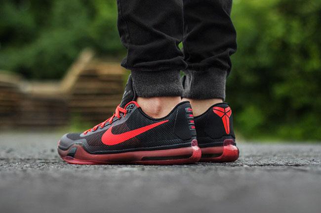 afca0ca8f054 Nike Kobe 10 Bright Crimson On Feet